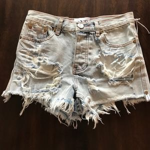 One Teaspoon High Rise Jean Shorts NWOT